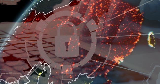 Imagem da China com circulação de dados